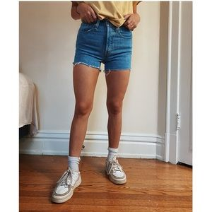 501 Button Up Front Levi Shorts